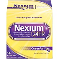 Nexium 24HR (14 Count, Capsules) All-Day, All-Night Protection from Frequent Heartburn Medicine with Esomeprazole Magnesium 20mg Acid Reducer
