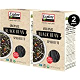 Explore Cuisine Organic Black Bean Spaghetti (2 Pack) - 8 oz - Easy to Make Gluten-Free Pasta - High in Plant-Based Protein -