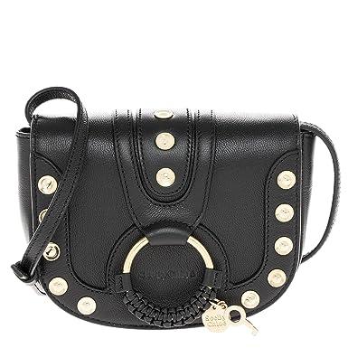 e44289620ce Amazon.com  See By Chloe Women s Studded Hana Crossbody Bag Black ...