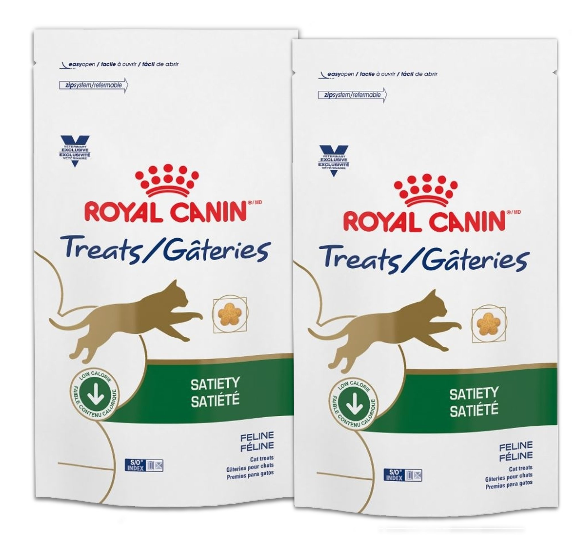 Royal Canin Veterinary Diet Satiety Feline Cat Treats 7.8 oz (2 bags) by Royal Canin