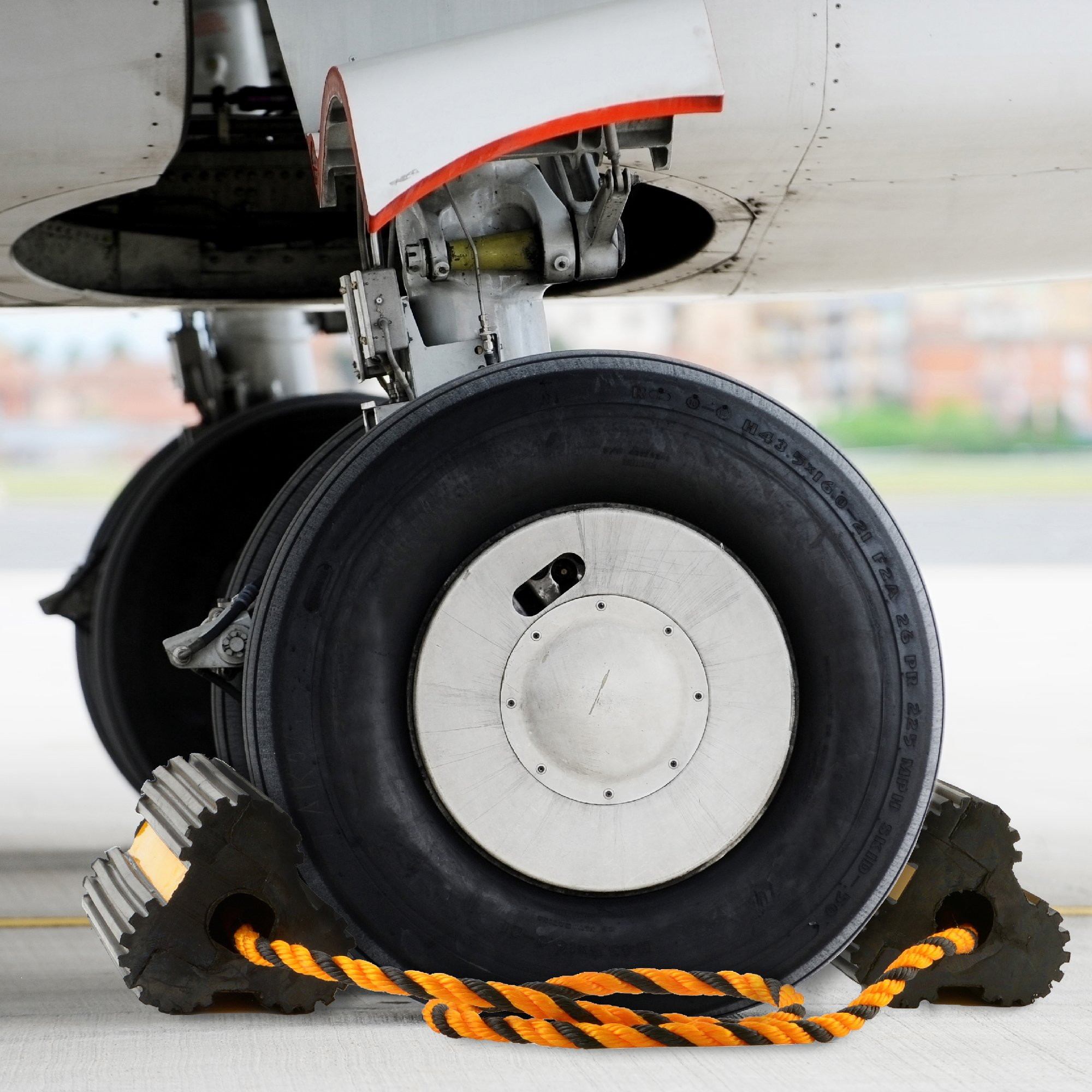 Approved for Automotive AFA Aircraft Wheel Chocks All Weather Safety Reflected 29 Inch Tethered for Small Airplanes by Approved for Automotive (Image #5)