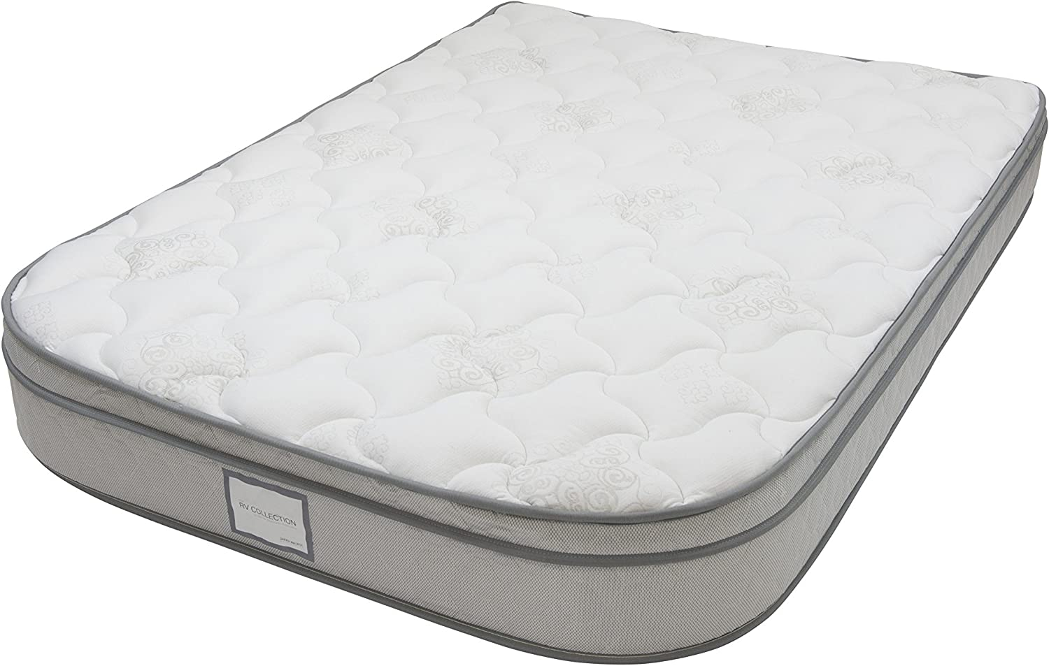 Denver 326391 Short Queen Size RV Supreme Euro Top Mattress with Radius Corners White