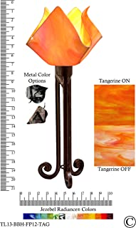 product image for Jezebel Radiance Torch Light. Hardware: Brown with Brown Highlights. Glass: Tangerine, Flame Style