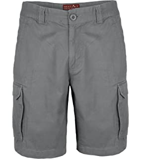 Herren Cargo Combat Shorts 100% Baumwolle Bermuda Kurz Hose Regular Fit 9f74bf3672