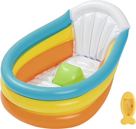 Bestway 51134 - Bañera Hinchable Up, In & Over Squeaky 76X48X33 cm ...