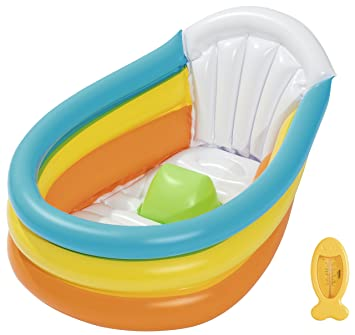 Bestway BW51134 Up In U0026 Over Squeaky Clean Inflatable Baby Bath,  Multi Colour,