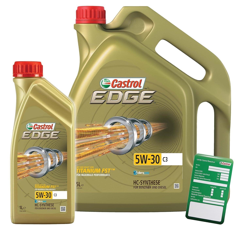 Castrol Edge Titanium FSTTM 5W-30 C3 - 31789267 - Aceite para motor, 6 litros (1 litro + 5 litros): Amazon.es: Coche y moto