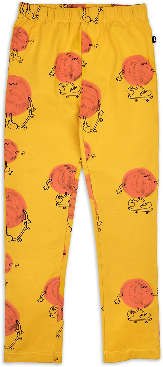 Toddler /& Little Kids AKI /& AIKO Organic Cotton Mr Sun Leggings