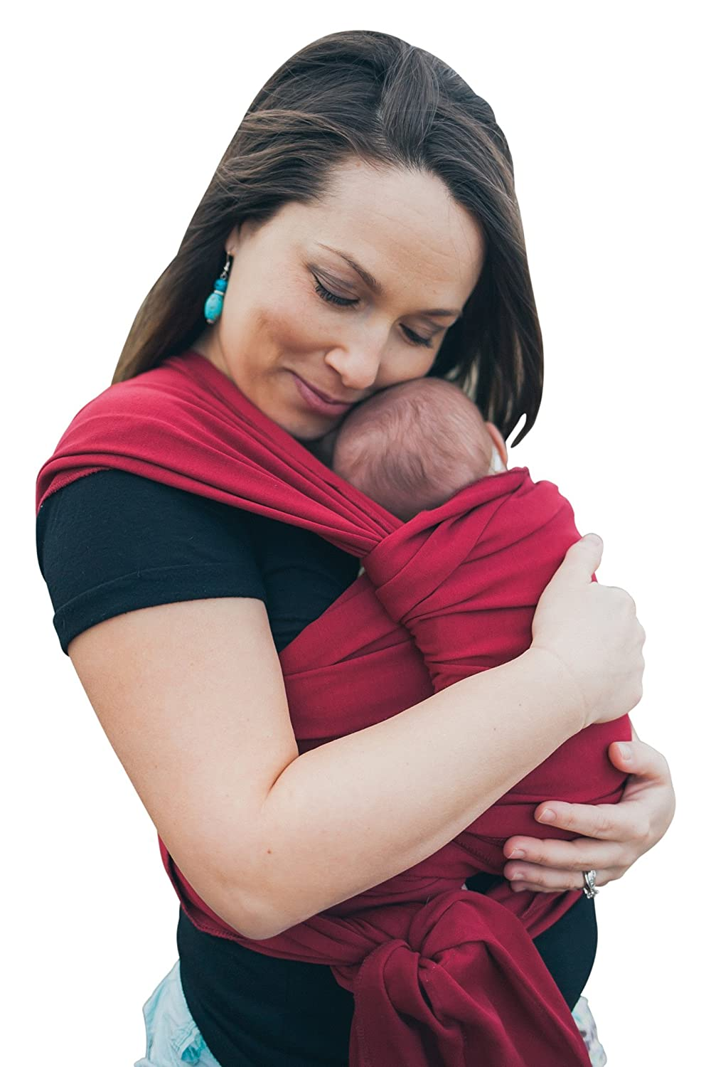 Baby Wrap Sling Organic Stretchy Wrap Carrier | UK/EU Safety Tested | Made in the UK by Joy and Joe | Suitable from Birth to 16Kg | Premium Quality Baby Sling | Boxed with Hat, Bag and full colour instruction booklet | Suitable for Breastfeeding | One Siz
