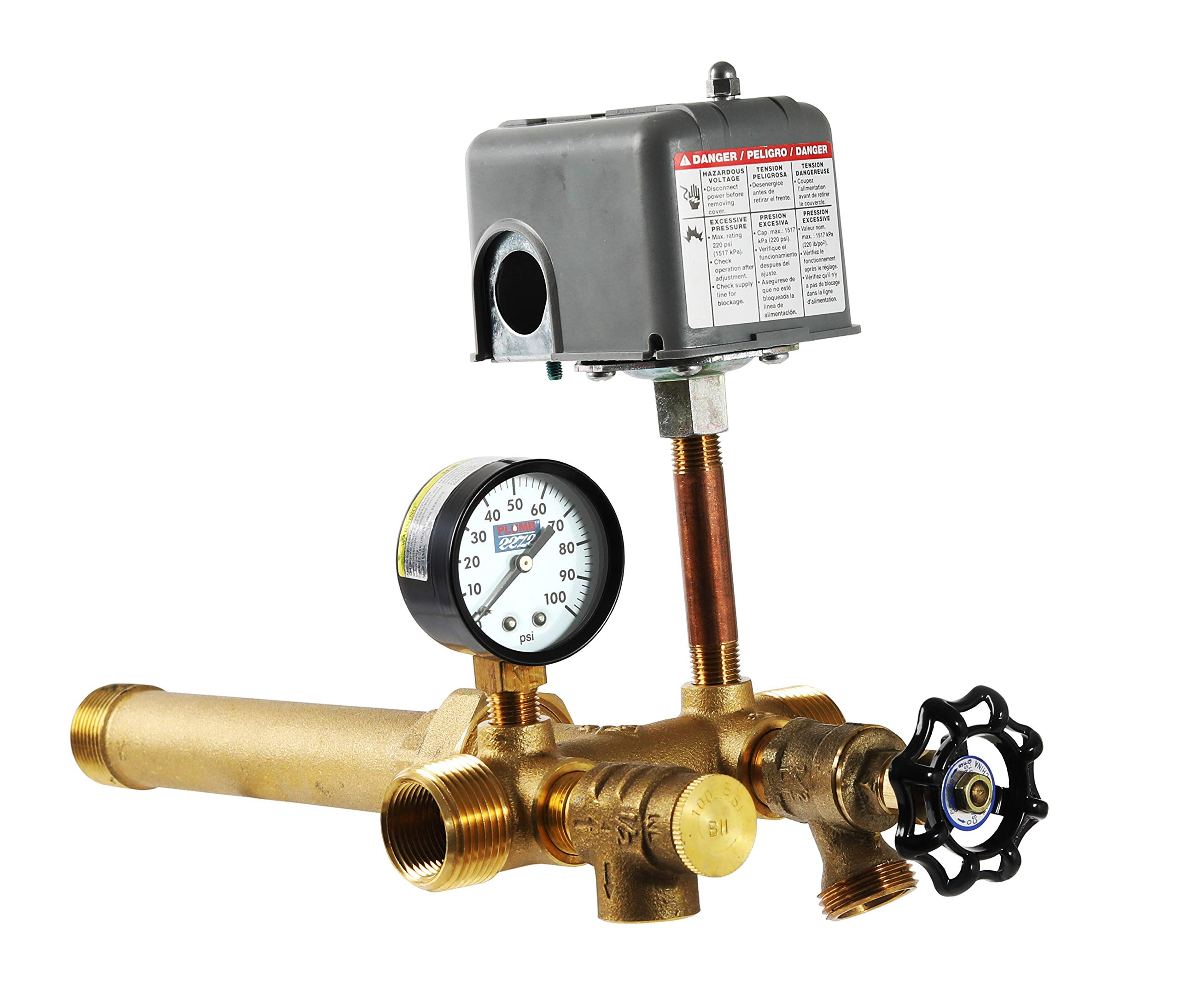 Plumb eeze Pressure Tank Installation Kit with 1'' Brass Union tank tee to fit most pressure tanks with diameters up to 16'' by PLUMB eeze