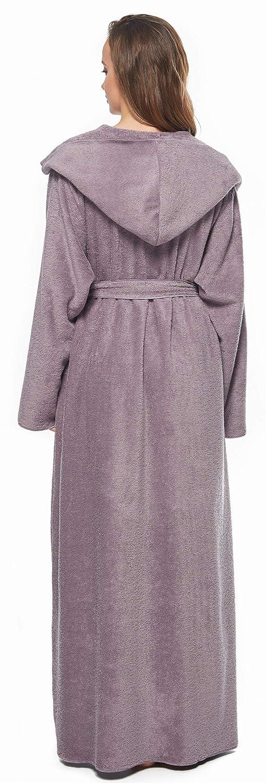 toalla de ba/ño unisex de rizo de calidad pr/émium Albornoz con capucha 100/% algod/ón egipcio crema, L//XL