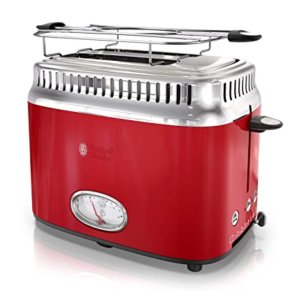 outlet store 34186 cffa8 Amazon.com  Russell Hobbs 2-Slice Retro Style Toaster, Red   Stainless  Steel, TR9150RDR  Kitchen   Dining