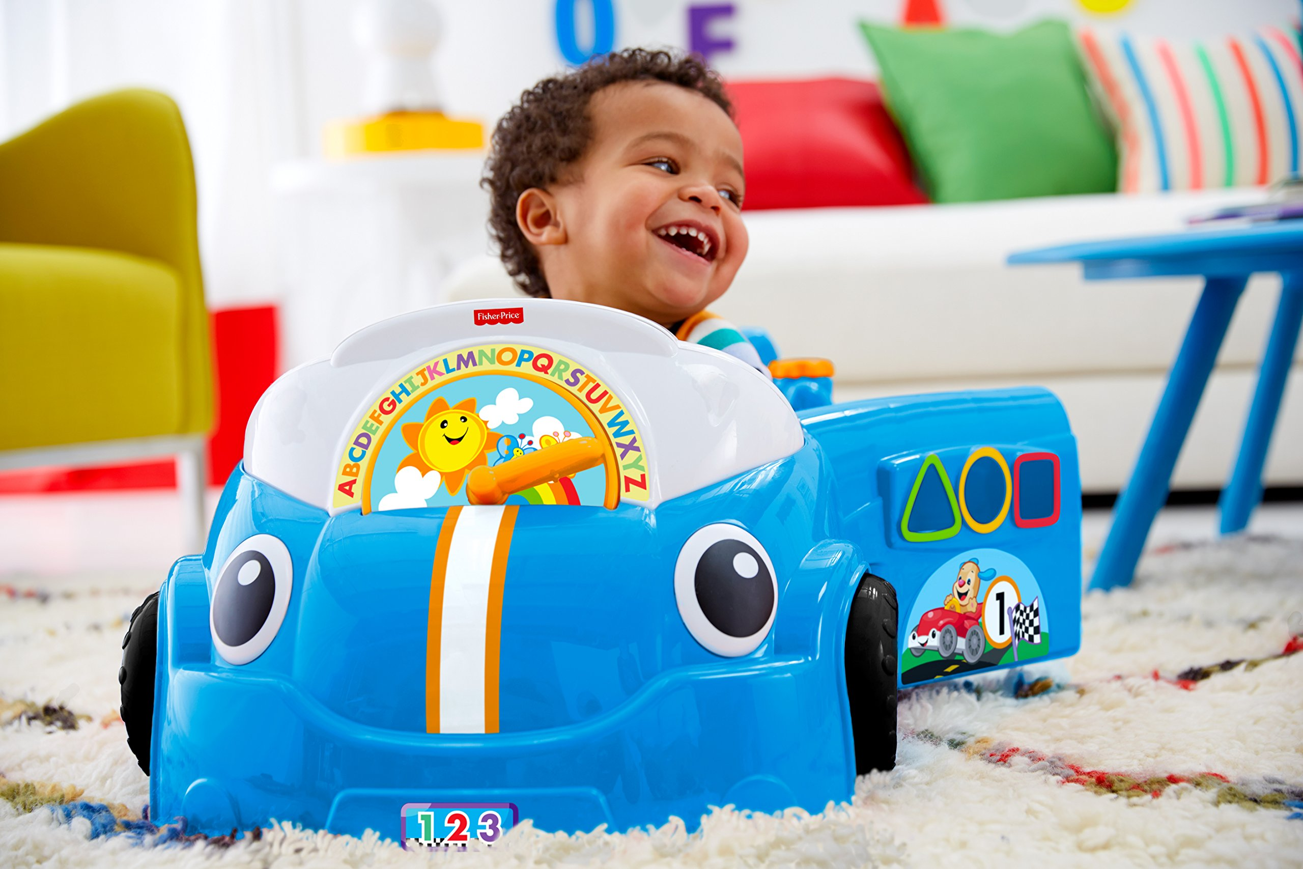 Fisher-Price Laugh & Learn Smart Stages Crawl Around Car, Blue by Fisher-Price (Image #4)