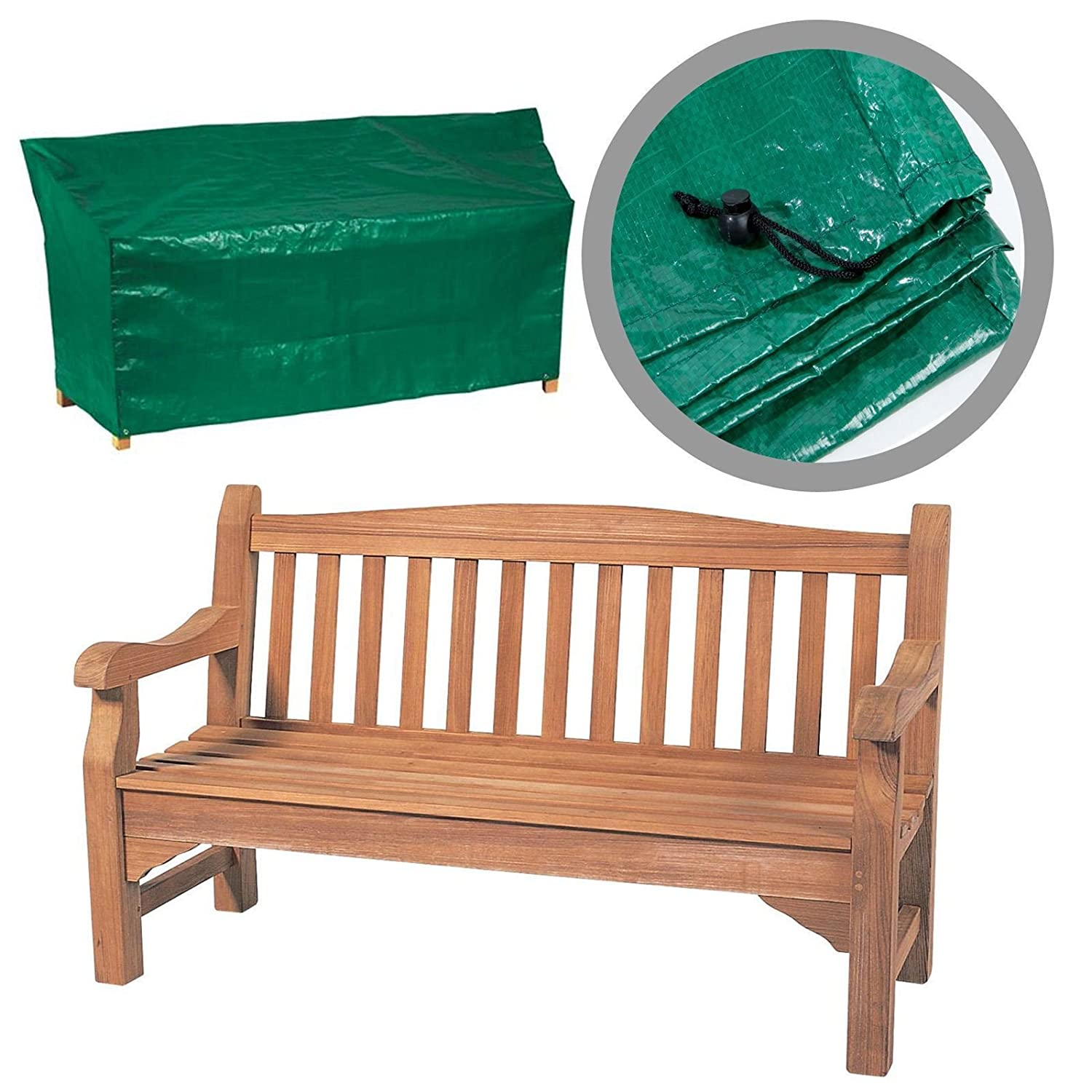 Durable Waterproof Green 4FT 1.2M 2 Seater Garden Bench Seat Protection Cover SONIC®