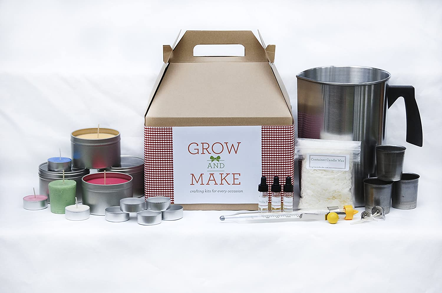 Grow and Make DIY Complete Soy Wax Candle Making Kit - Make your own candles at home! C59
