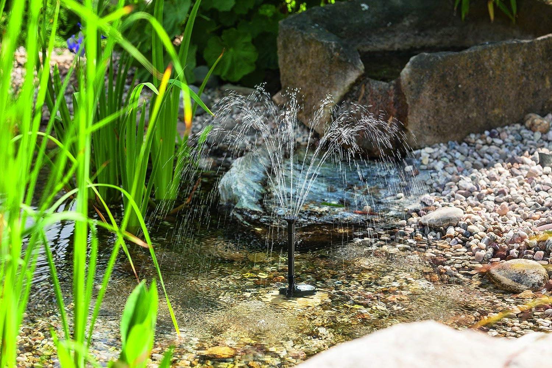 BUVTEC Esotec Solar Gartenteich Teichpumpen Set 175//2 50-70 cm F/örderh/öhe Komplettset Gartenteich Pumpe mit Solarpanel und Befestigung