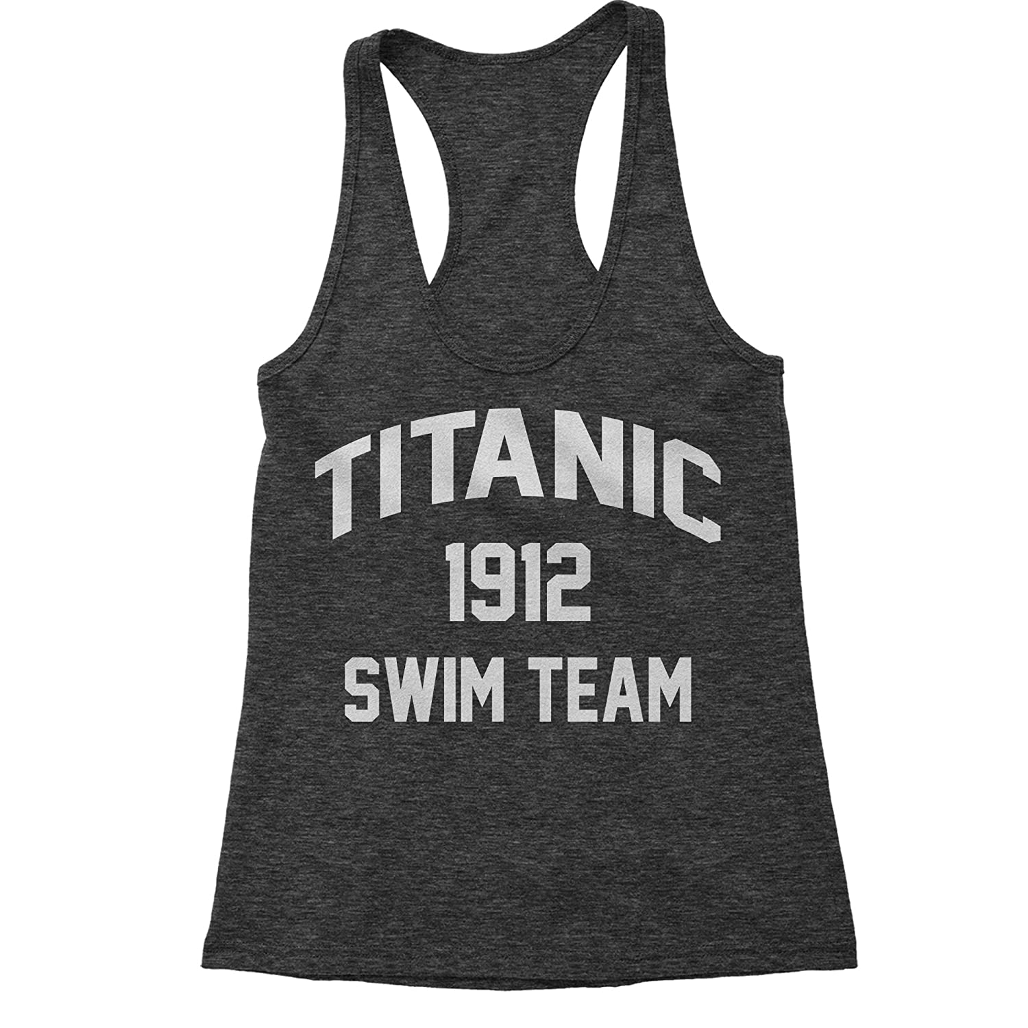 Expression Tees Titanic Swim Team 1912 Triblend Racerback Tank Top for Women 1059-R