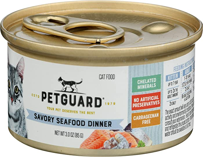 The Best Petguard Savory Seafood Dinner Canned Cat Food