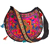 Floral Colorful Shoulder Bag Crossbody Hobo Satchel Hippie Boho Fashion Women Functional Stylish Everyday