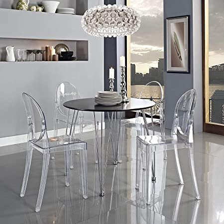 Living Room Bedroom Combo Ideas, Panana New Ghost Acrylic Transparent Clear Philippe Starck Style Dining Chair X2 Amazon Co Uk Kitchen Home