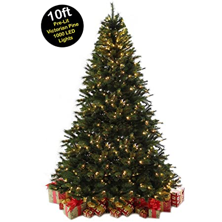 10ft 3m victorian pine pre lit christmas tree with 1000 warm white led