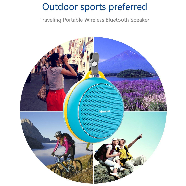 Abusun Wireless Bluetooth Waterproof Speakers HDSurround Sound Partable Black