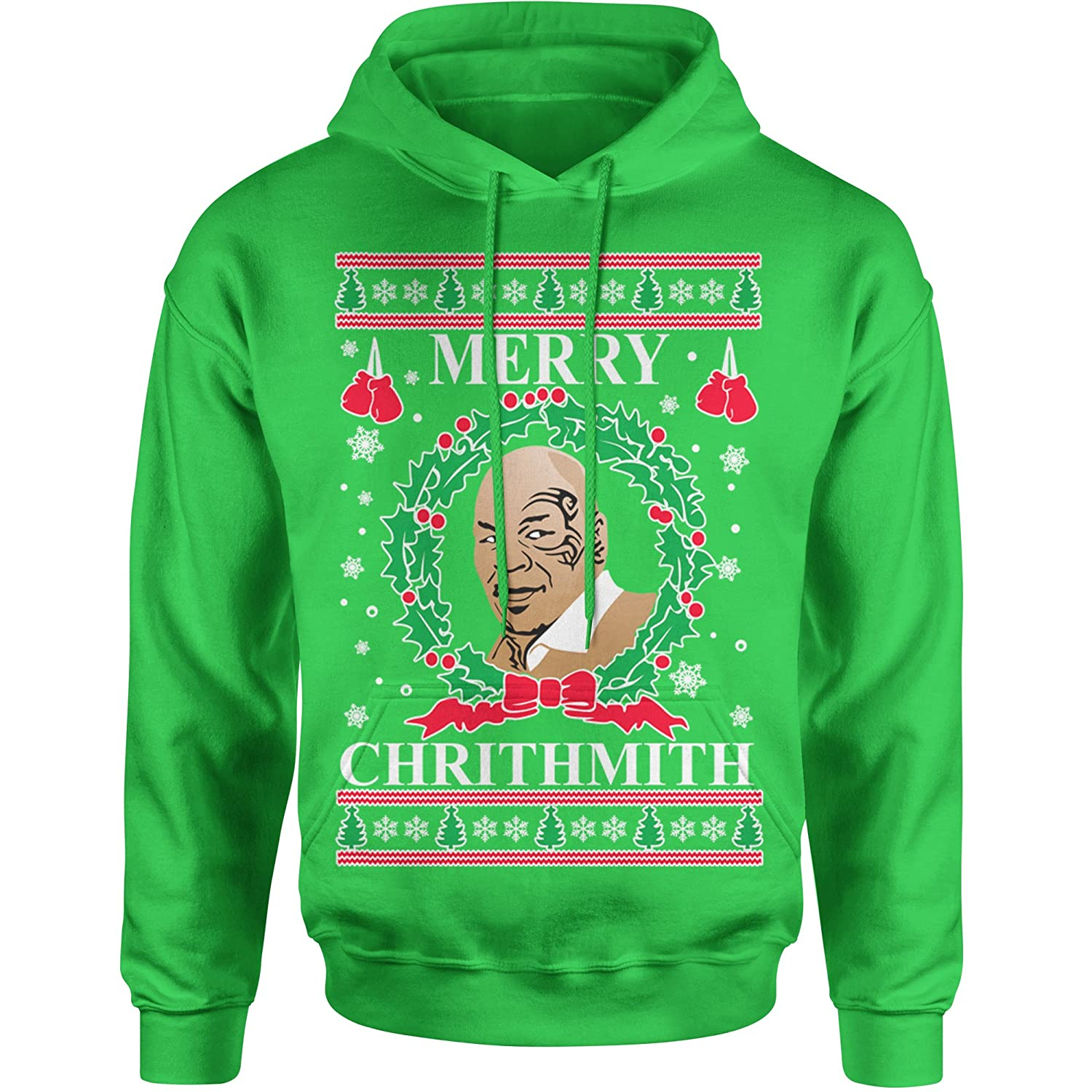 Expression Tees Merry Chrithmith Ugly Christmas Unisex Adult Hoodie 8089-H