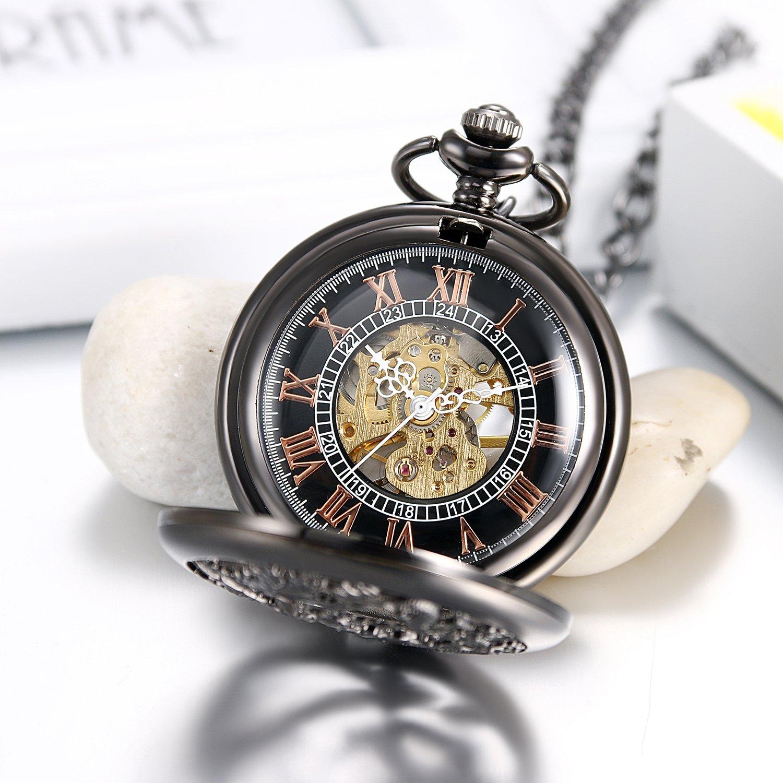 Uhren Mode Vintage Männer Und Frauen Quarz Taschenuhr Mit Kette Römische Zahl Unisex Halskette Anhänger Geschenke Ll @ 17 Hohe Belastbarkeit