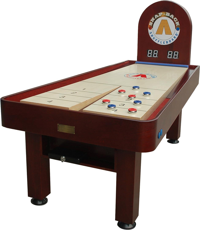 Snap Back taberna 7 pies Shuffleboard cuadro con electrónico sistema de puntuación y ajustable pierna niveladores: Amazon.es: Deportes y aire libre