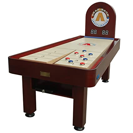 Snap Back Tavern 7 Feet Shuffleboard Table With Electronic Scoring System  And Adjustable Leg Levelers
