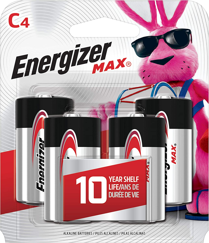 Energizer Max C Batteries, Premium Alkaline, 4 Ct, Packaging May Vary: Health & Personal Care