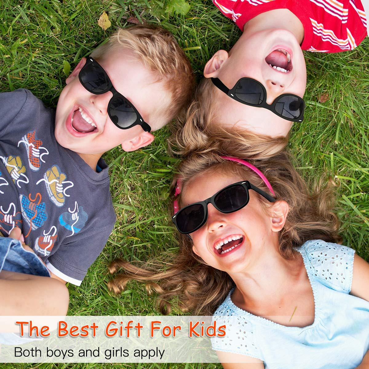 fa2074abb2f1 Amazon.com  Kids Sunglasses Polarized kds Sunglasses Girls Baby Sunglasses  Boys Age 4-10  Clothing