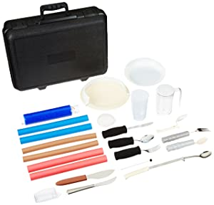 Sammons Preston - 55532 Adult Feeding Evaluation Kit, 18-Item Kit Featuring Assistive Eating Devices, Cutlery, Dishes, Cups, and Food Guards, Complete Independent Self-Feeding Package for Elderly, Handicapped