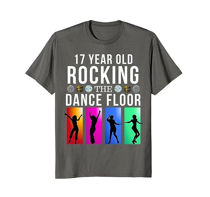 Mens 17th Birthday Gift 17 Year Old Rocking Dance Floor T Shirt 2XL Asphalt