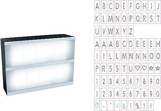 LA9729 85 Lettres 21 x 5,3 x 14,8 cm Boite Lumineuse /à Message A5 ABS D.KO K.DO PVC Noir