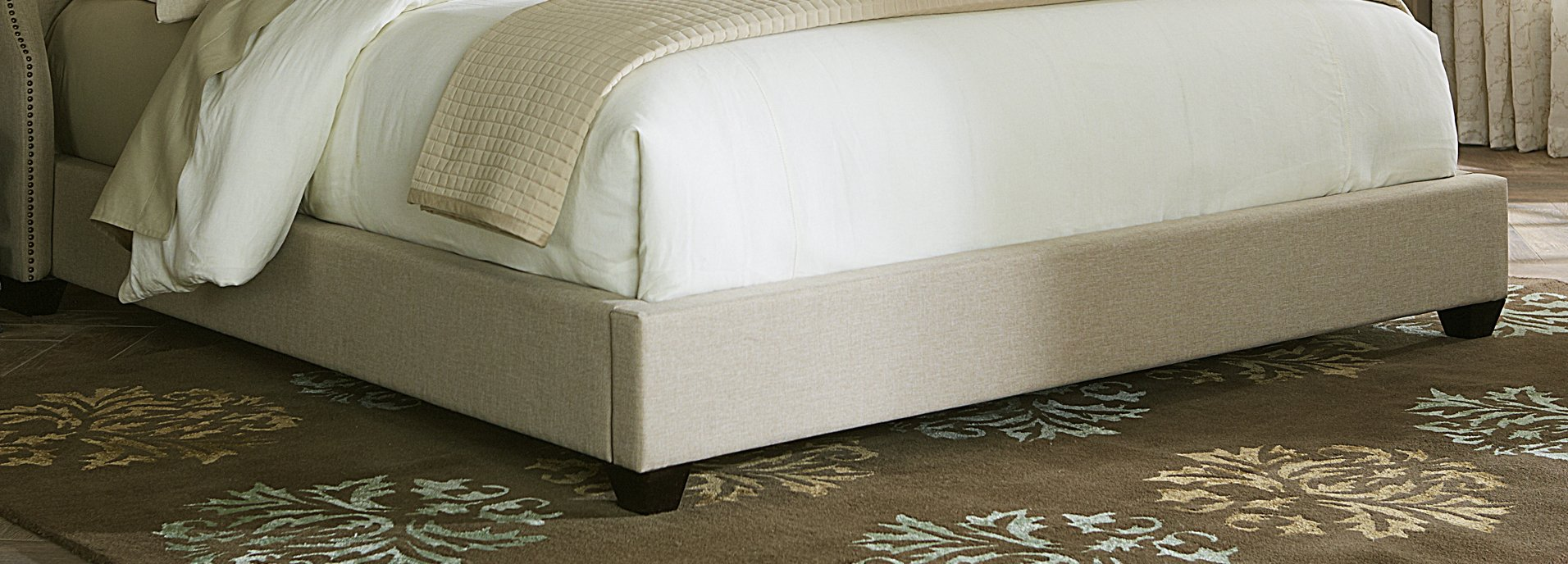 Liberty Furniture 100-BR23F Upholstered Footboard, Queen, Natural