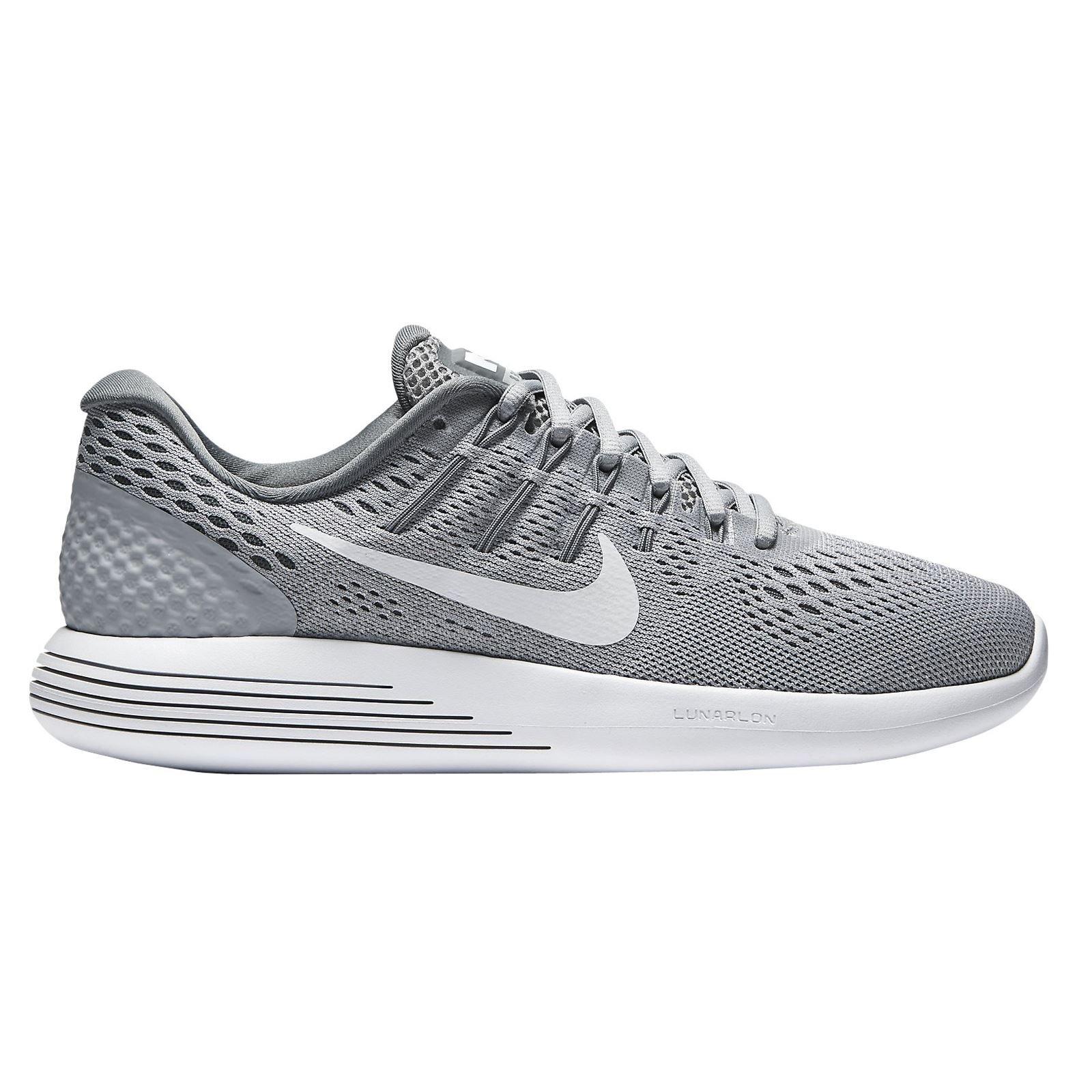 NIKE Women's Lunarglide 8 Running Shoe Wolf Grey/White Cool Grey 6.5