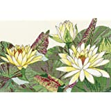 20 X 23CM Multi PANNA Anemone Flower Ballerina Counted Cross Stitch Kit C-1886