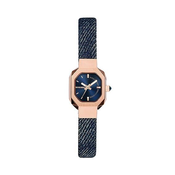 67a06f7bdda8 Diesel Reloj Analogico para Mujer de Cuarzo con Correa en Tela DZ5569   Amazon.es  Relojes
