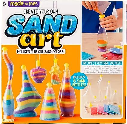 Sand Art Bottle Kids Activity DIY Party Girls Toy Game Set