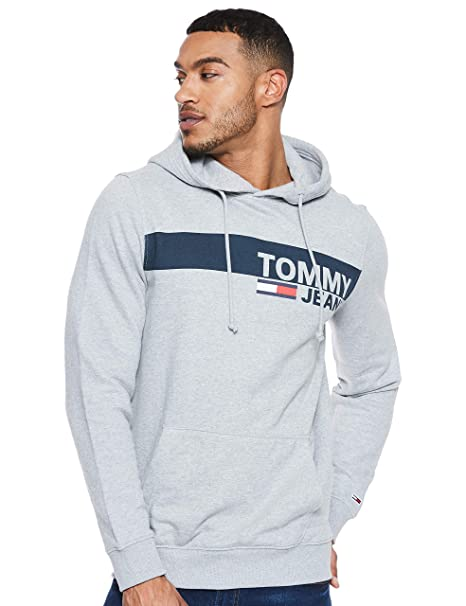 Tommy Jeans Hombre Essential Graphic Capucha Manga Larga