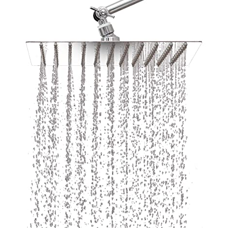 Adjustable Rain Shower Head.10 Inch Rainfall Shower Head By Katoka Home With 11 Inch Adjustable Extension Arm Large Ultra Thin Stainless Steel Adjustable Pressure With 121