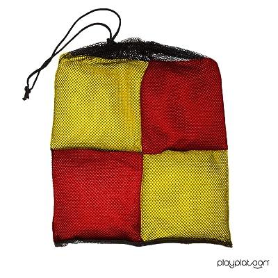 Purple /& Yellow Play Platoon Premium Weather Resistant Duckcloth Cornhole Bags