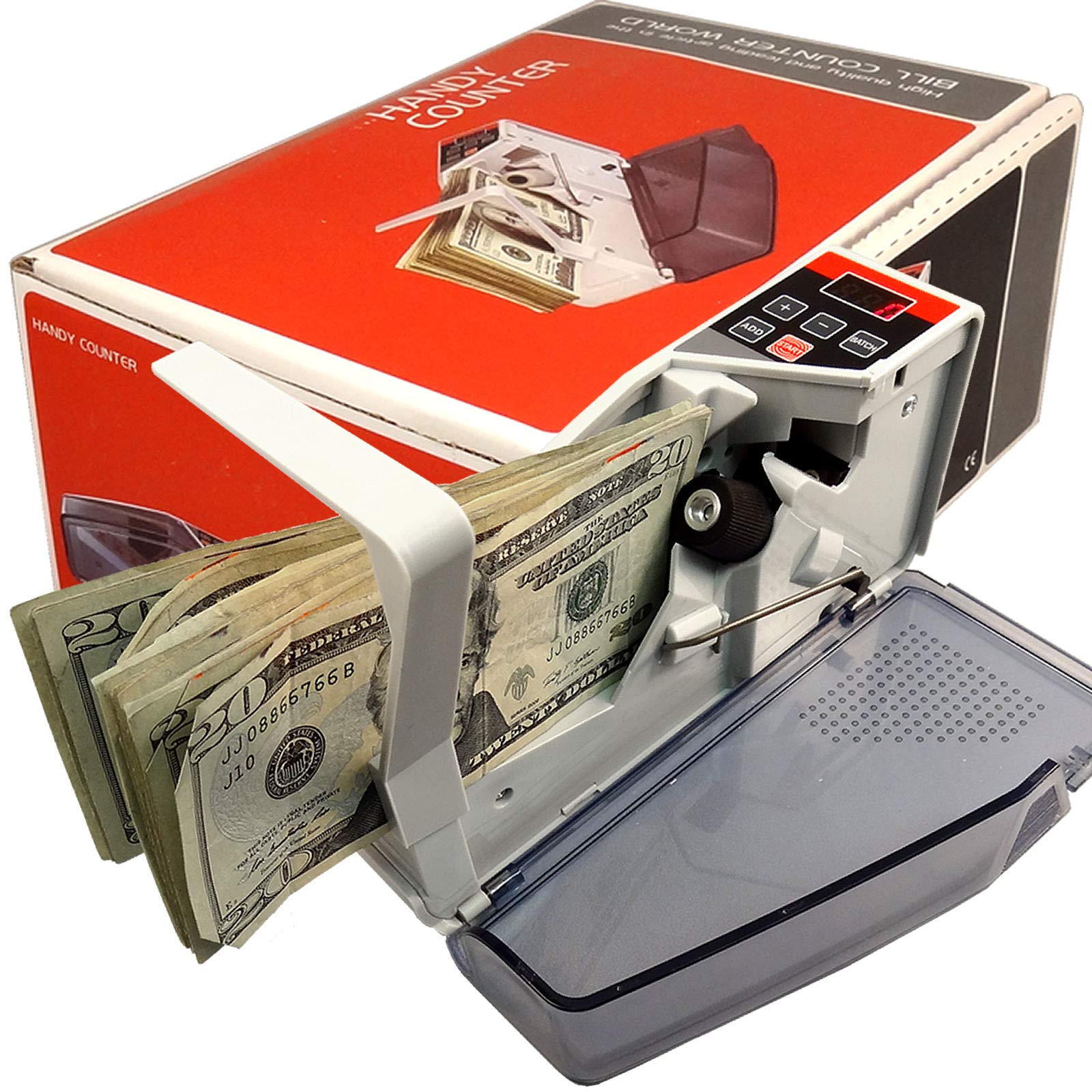 Henry Tech Counting Cash Handy Counter Portable Mini Currency Machine Money Bill