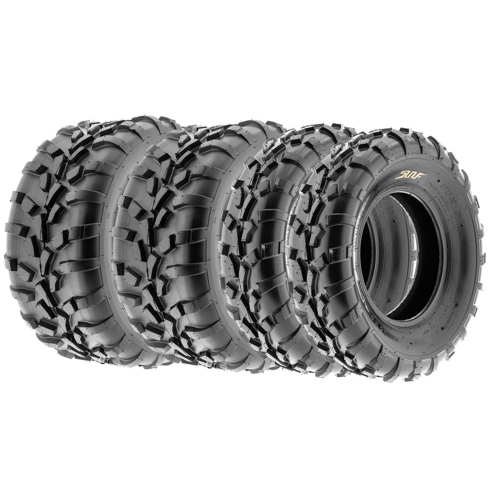SunF Sport A/T UTV ATV Tires 25x8-12 & 25x11-10 6 PR A010 (Full set of 4)