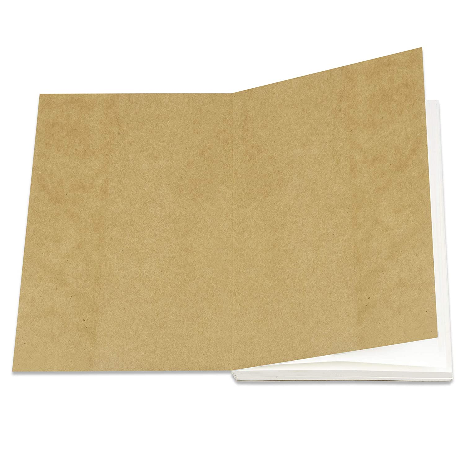 Eco Friendly Acid-Free and Tree-Free Recycled Cotton Sheets A5 Ruled Notepad 8.25 x 5.75 Inches with 220 Beautifully Soft Pages Lined Paper Refill Notebooks for Moonster Refillable Leather Journal