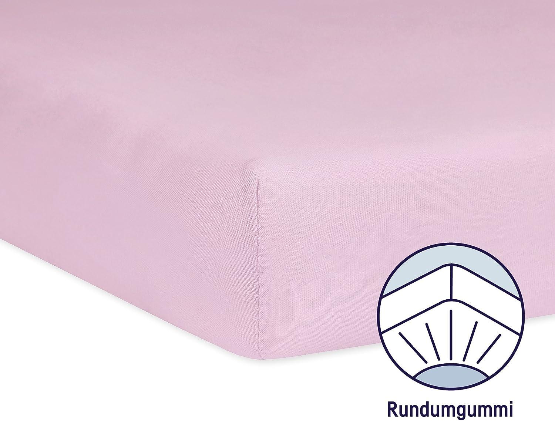 Gr/ö/ße: 60x120 // 70x140 cm Julius Z/öllner 8320147760 Spannbetttuch Jersey f/ür das Kinderbett Farbe: rosa