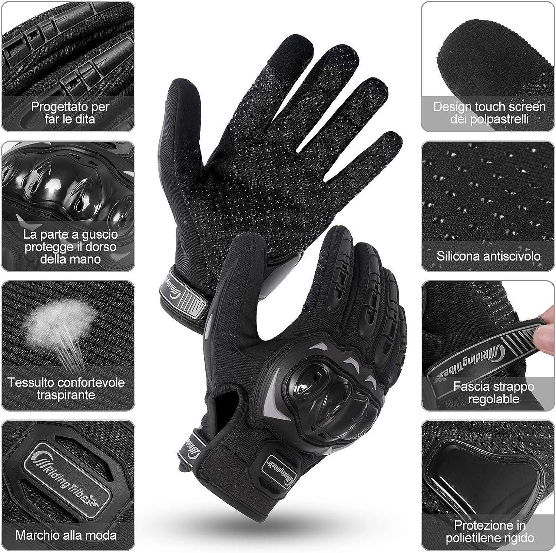 Guantes de moto para mujer de verano, guantes MTB Touch Screen transpirables, guantes de dedo completo para moto, ciclismo, escalada, guantes de ...