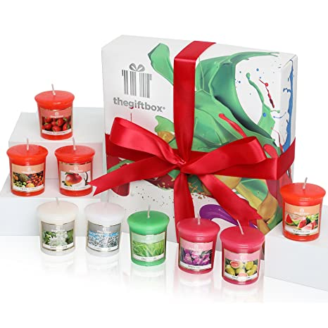 A Luxurious Scented Candle Gift Set With 9 Candles In Enriching Aromas