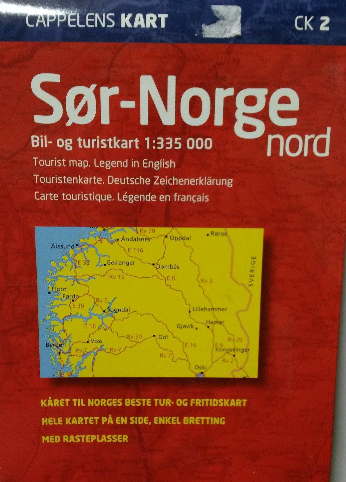 Sor Norge Nord Cappelens Kart 2 Cappelens 9788202105136